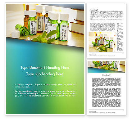 Homeopathic Remedies Word Template, 12438, Medical — PoweredTemplate.com