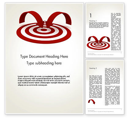 Targeting Customers Word Template, 12440, Careers/Industry — PoweredTemplate.com