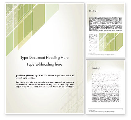 Abstract/Textures: Abstract Green Layers Word Template #12450