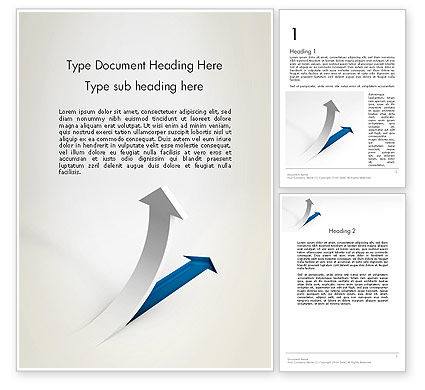 Business Concepts: Growth Arrow Word Template #12451