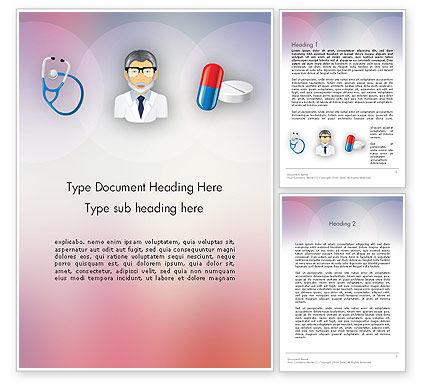 Hospital Presentation Word Template, 12453, Medical — PoweredTemplate.com
