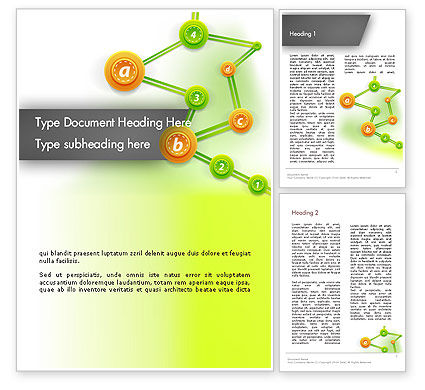 Chronological Tree Word Template, 12466, Business Concepts — PoweredTemplate.com