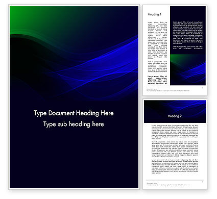 Abstract/Textures: Abstract Dark Green and Blue Word Template #12467