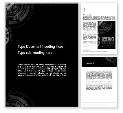 Abstract/Textures: Abstract Technology Circles Word Template #12476
