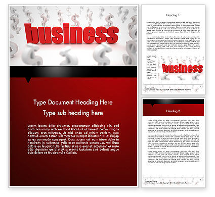 Growing Up Business Concept Word Template, 12479, Business — PoweredTemplate.com