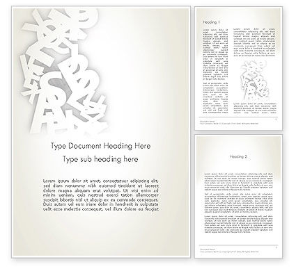 Abstract Alphabet Word Template