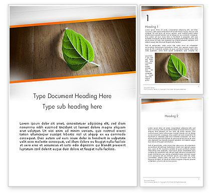 Consulting: Turn Over a New Leaf Word Template #12499