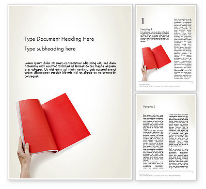 Business: Red Page Word Template #12503