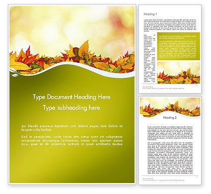 Nature & Environment: Modello Word - Tappeto di foglie cadute #12509