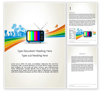 Online TV Concept Word Template, 12521, Careers/Industry — PoweredTemplate.com