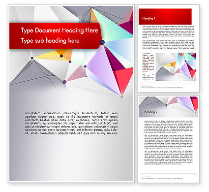 Abstract/Textures: Abstract Polygonal Background Word Template #12525