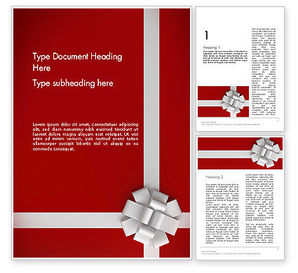 Holiday/Special Occasion: Gift Theme Word Template #12526