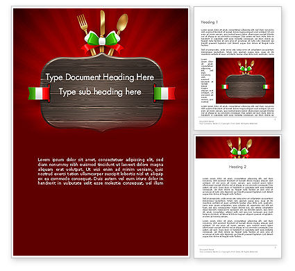 Italian Restaurant Word Template