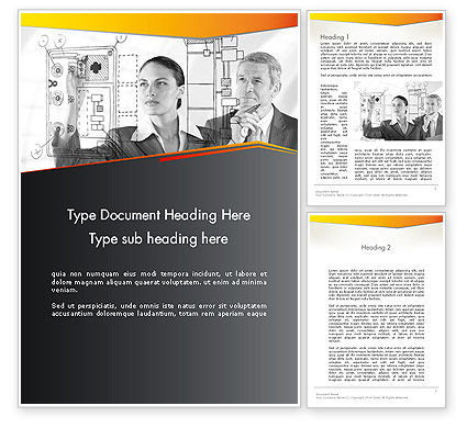 Technology Audit Word Template, 12534, Consulting — PoweredTemplate.com