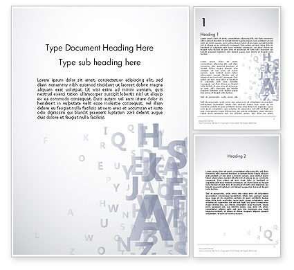 Transparent Letters Word Template, 12537, Education & Training — PoweredTemplate.com