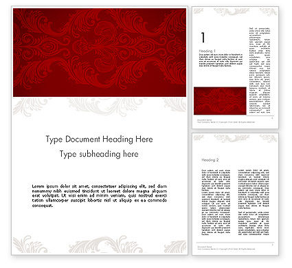 Abstract/Textures: Classic Ornament Word Template #12542
