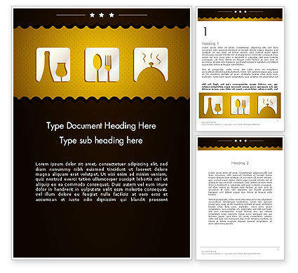cookbook icons word template 12555 poweredtemplate com