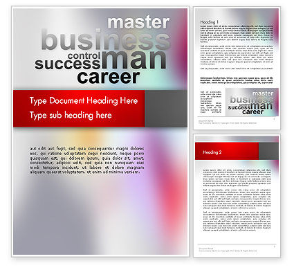 Control Success Career Word Template, 12556, Business Concepts — PoweredTemplate.com