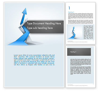 Intertwining Up Arrows Word Template, 12557, Business — PoweredTemplate.com