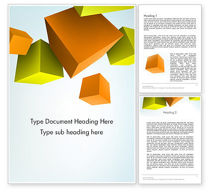 Abstract/Textures: Three-Dimensional Geometric Word Template #12565