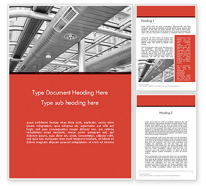 Air Conditioning Word Template, 12576, Careers/Industry — PoweredTemplate.com