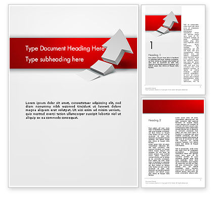 Rising 3D Arrow Word Template, 12580, Business Concepts — PoweredTemplate.com