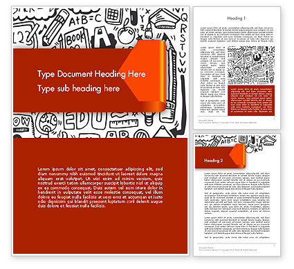 Education Doodles Word Template