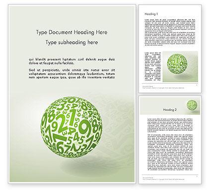 Sphere Of Numbers Word Template