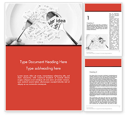 Business Concepts: Feeding Brain Ideas Word Template #12600