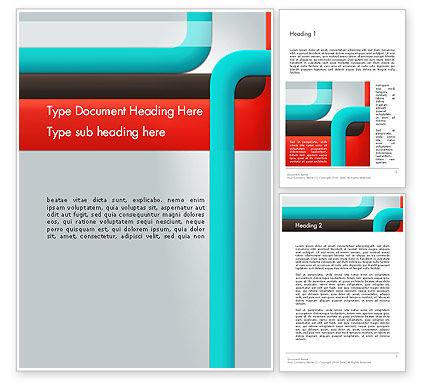 Abstract/Textures: Plantilla de Word - líneas de colores abstractas #12601