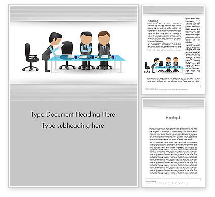 Corporate Board Meeting Word Template, 12603, Business — PoweredTemplate.com