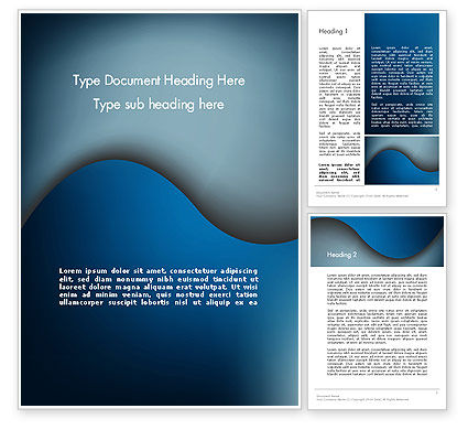Abstract/Textures: Dark Blue Wave Word Template #12610