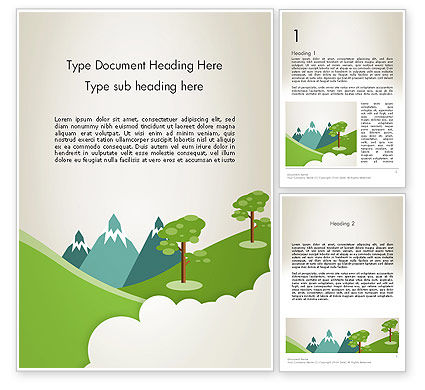 Landscape for Kids Word Template