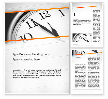Five Minutes to Twelve Word Template, 12612, Business Concepts — PoweredTemplate.com