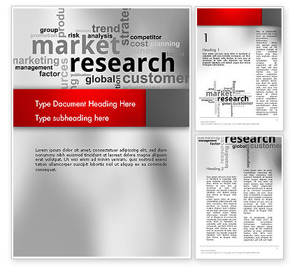 Careers/Industry: Market Research Word Cloud Word Template #12624