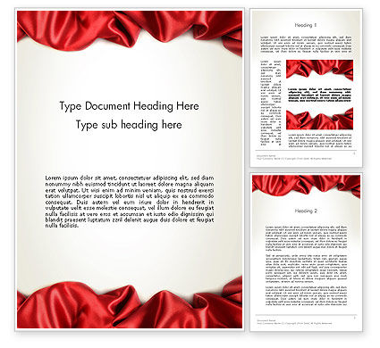 Abstract/Textures: Folds of Red Cloth Word Template #12628
