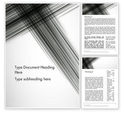 Abstract/Textures: Abstrakte schneidende schwarze linien Word Vorlage #12632
