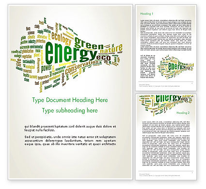 Nature & Environment: Green Energy Word Cloud Word Template #12640