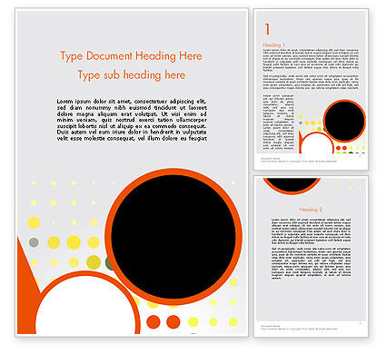 Abstract/Textures: Abstract Circles Word Template #12645