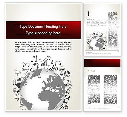 Education & Training: Modelo do Word - conhecimento global #12646