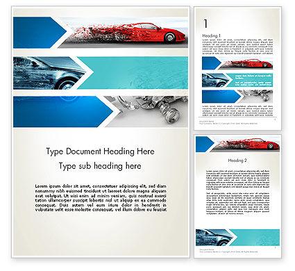 Car Design Industry Word Template, 12650, Careers/Industry — PoweredTemplate.com