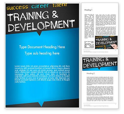 Education & Training: Training and Development Word Template #12652