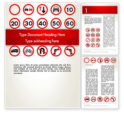 Traffic Signs Word Template