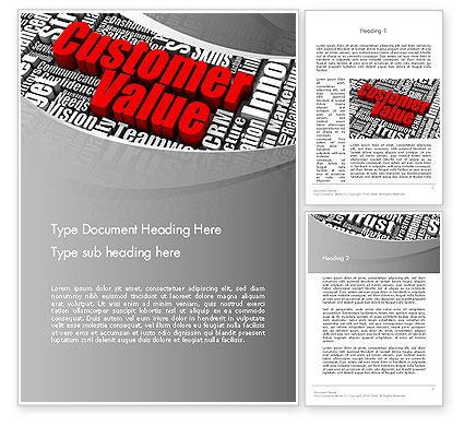 Customer Value Word Template, 12674, Consulting — PoweredTemplate.com