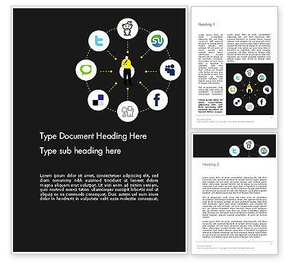 Social Media Optimization Word Template, 12676, Careers/Industry — PoweredTemplate.com