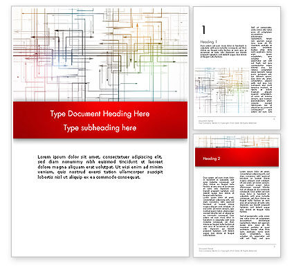 Thin Multidrectional Intersecting Arrows Word Template, 12677, Business Concepts — PoweredTemplate.com