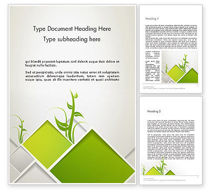 Abstract Greenhouse Concept Word Template, 12694, Nature & Environment — PoweredTemplate.com
