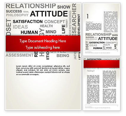 Attitude Word Cloud Word Template