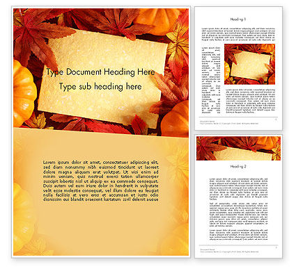 Thanksgiving Card Word Template, 12702, Holiday/Special Occasion — PoweredTemplate.com