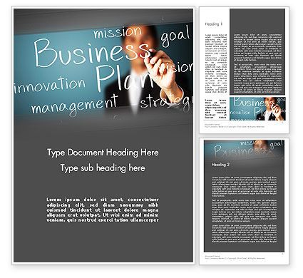Strategic Business Planning Word Template, 12703, Careers/Industry — PoweredTemplate.com